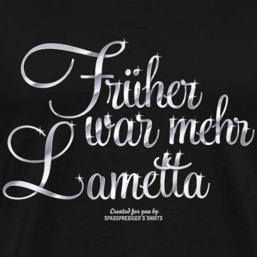 Früher war mehr Lametta Silber | spassprediger - Männer Premium T-Shirt
