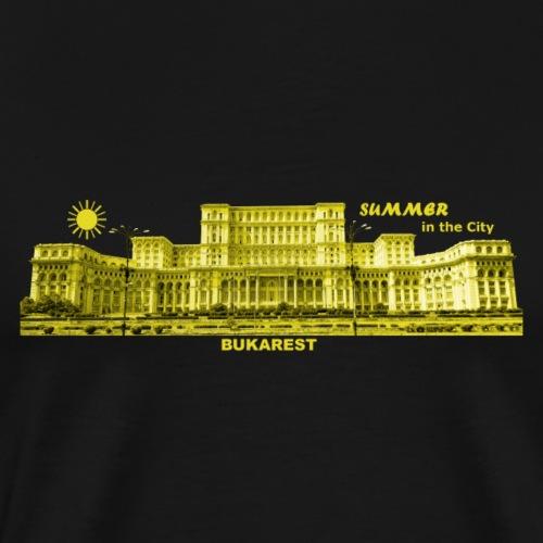 Summer Bukarest City Rumänien Romania - Männer Premium T-Shirt