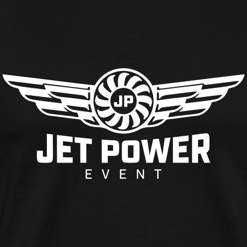 Logo JetPower Event, weiß - Männer Premium T-Shirt