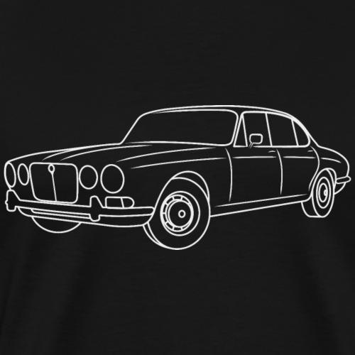 70s Jaguar XJ Outline Light - Simple - Men's Premium T-Shirt