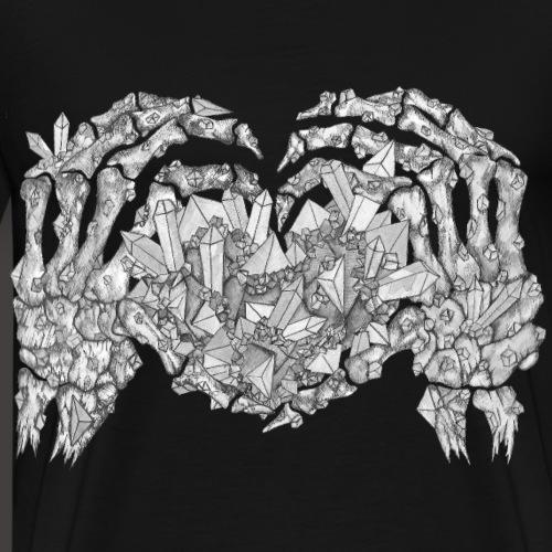 L amour Cristallin Noir et Blanc - T-shirt Premium Homme