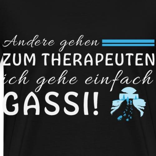 Hunde Gassi Therapeuten Dogwalker Hundefreund - Männer Premium T-Shirt