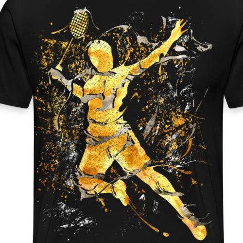 Badminton - Smash - Badminton - Gold - Männer Premium T-Shirt