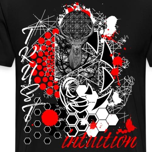 Trust Intuition Trash Polka Deer Sacred White - Men's Premium T-Shirt