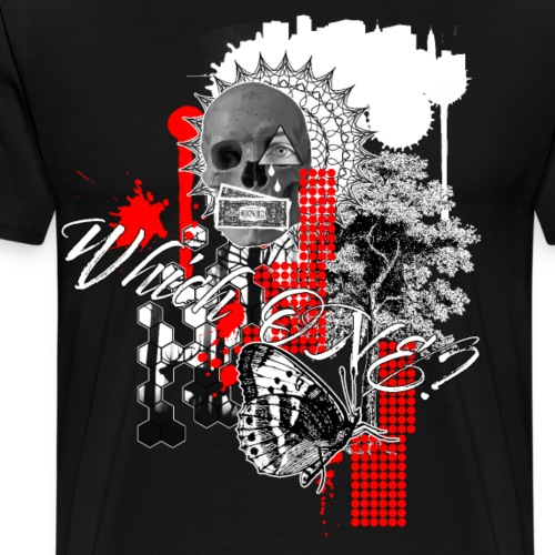 Which one Trash Polka Nature Money - Men's Premium T-Shirt