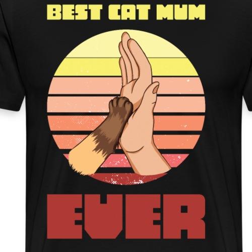 Best Cat Mum Ever Vintage - Men's Premium T-Shirt