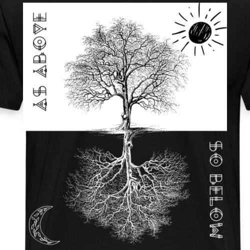 As Above so Below, Tree of Life ,Occult, Magic ,Al - Men's Premium T-Shirt