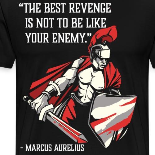 Stoic quote by Marcus Aurelius,Honor, Wisdom - Men's Premium T-Shirt