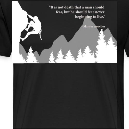 Start living, Stoic quote by Marcus Aurelius - Men's Premium T-Shirt