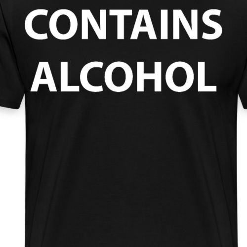 Contains Alcohol Funny Typography Drinking - Men's Premium T-Shirt