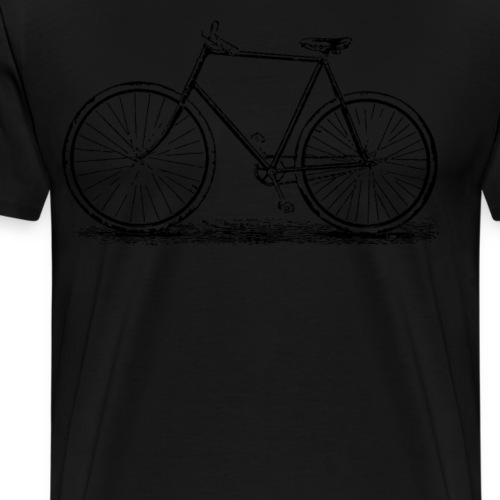 Vintage bicycle Old School Bike Distressed - Men's Premium T-Shirt