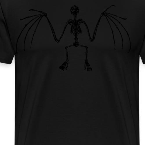 Vintage Bat Skeleton Spooky Cool Gore - Men's Premium T-Shirt