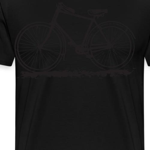 Vintage Bike Old School Bicycle Distressed - Men's Premium T-Shirt