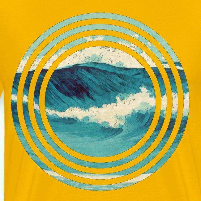 Wave vintage watercolor