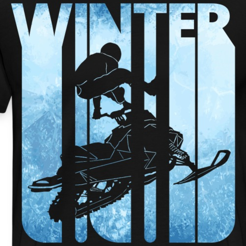 Retro Winter Holiday. Snowmobiling.Christmas Gifts - Men's Premium T-Shirt