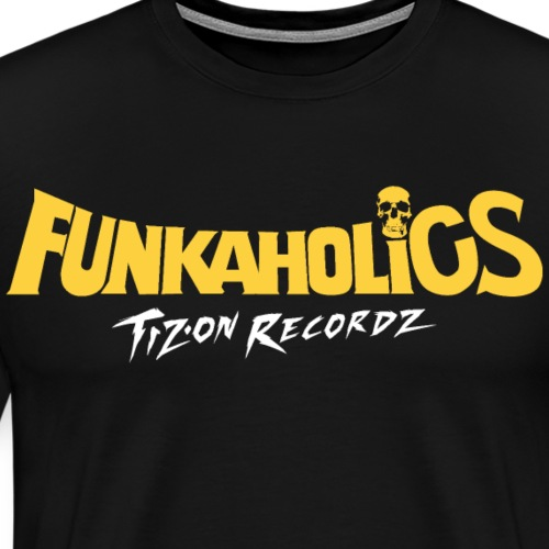 logo_funkaholics_yellowwhite - T-shirt Premium Homme