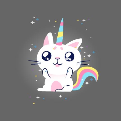 Rainbow cat rainbow cat unicorn - Men's Premium T-Shirt