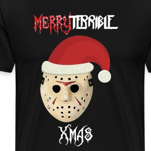 Feliz Terrible Navidad 2020 Jason Viernes 13 - Camiseta premium hombre