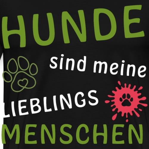 Hunde Lieblingsmensch Hundebesitzer Shirt Hund - Männer Premium T-Shirt