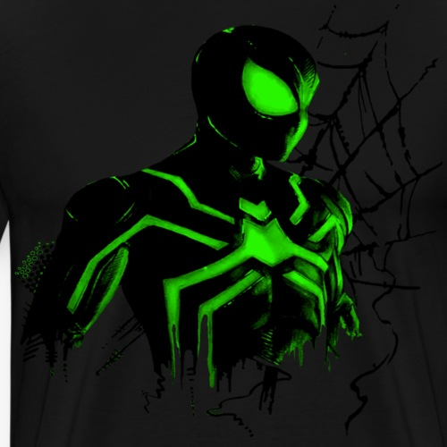 Spinne Green Style - Männer Premium T-Shirt