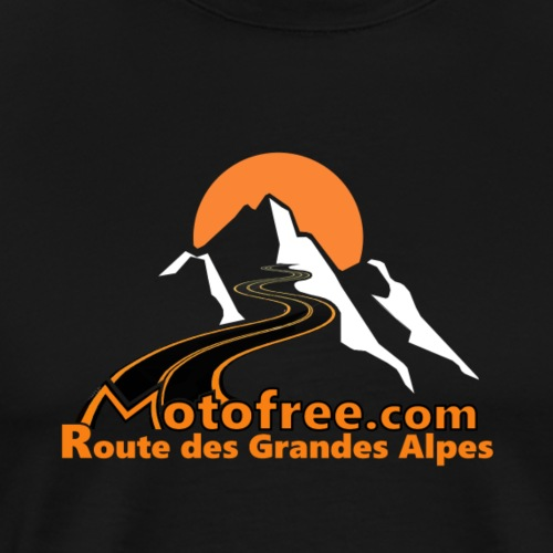 logo motofree orange - T-shirt Premium Homme
