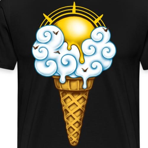 Crème Glacée Ensoleillée - T-shirt Premium Homme