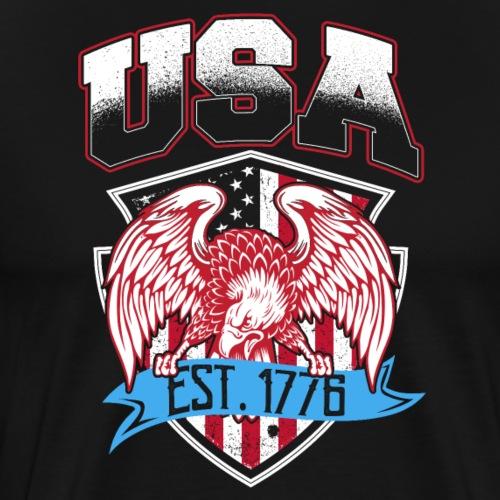 USA Established 1776 - Männer Premium T-Shirt