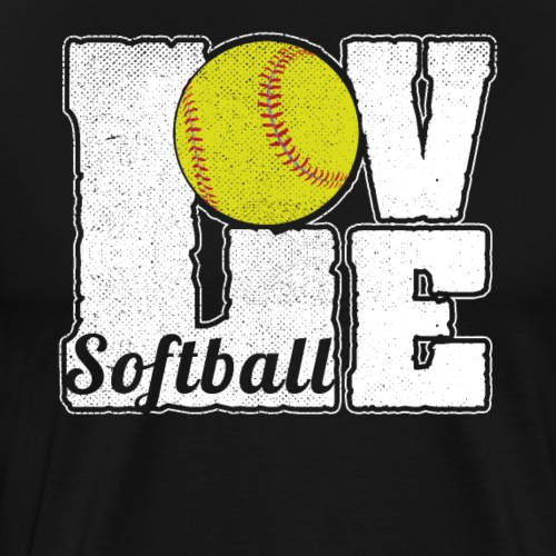 SOFTBALL LOVE - Männer Premium T-Shirt