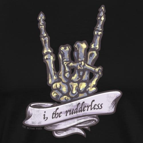 I, The Rudderless Skeleton Horned-Hand - Men's Premium T-Shirt