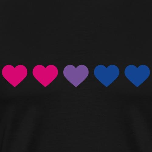 Bi-Heart - Men's Premium T-Shirt