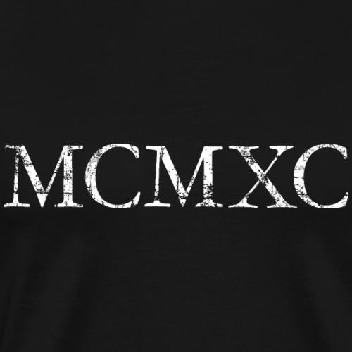 MCMXC (Vintage Weiß) 1990 30. Geburtstag - Männer Premium T-Shirt