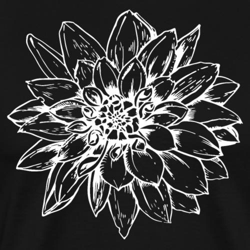 Dahlie weiss - Männer Premium T-Shirt