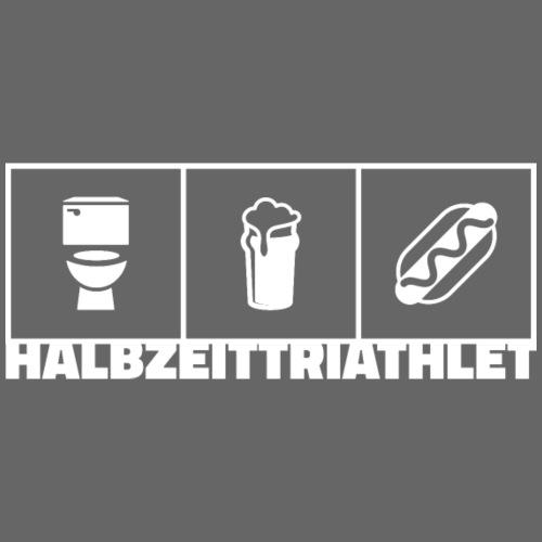 Halbzeittriathlet weiss - Männer Premium T-Shirt