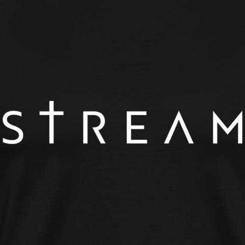 STREAM HVIT - Premium T-skjorte for menn