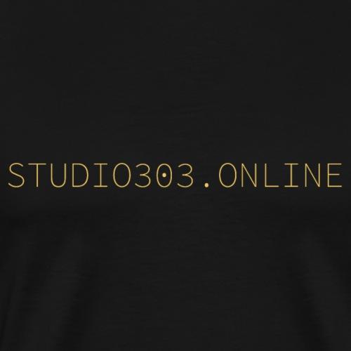 Studio303.online nur Schriftzug - Männer Premium T-Shirt