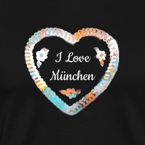 I Love München - Männer Premium T-Shirt