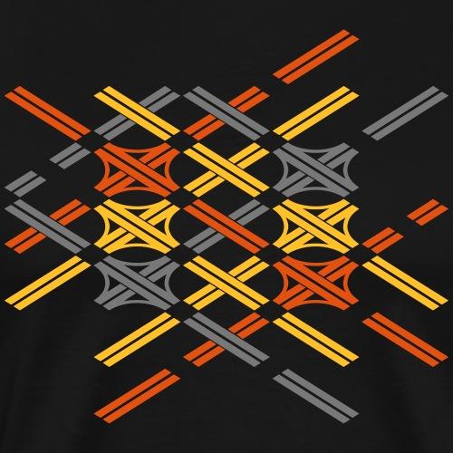 Autobahnkreuze Fragment bunt - Männer Premium T-Shirt
