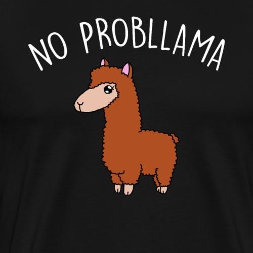 No Probllama - Herre premium T-shirt