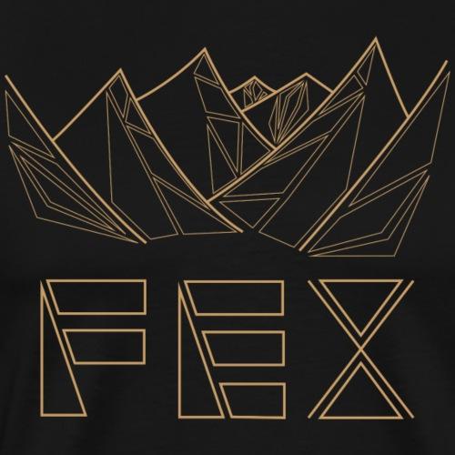 bergfex geometrisch braun - Männer Premium T-Shirt