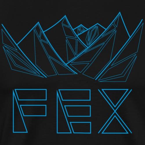 bergfex geometrisch blau - Männer Premium T-Shirt