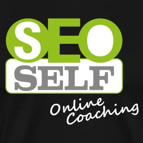 SEO SELF Logo mit weißer Subline - Männer Premium T-Shirt