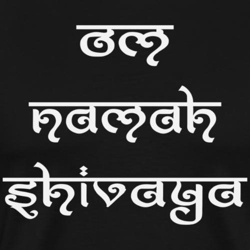 om namah shivaya silver - Männer Premium T-Shirt