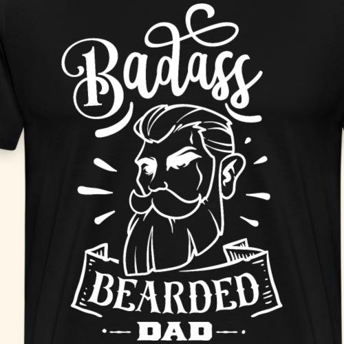 Badass Bearded Dad - Männer Premium T-Shirt