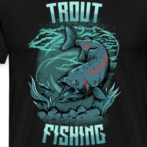 Trout Fishing - Männer Premium T-Shirt