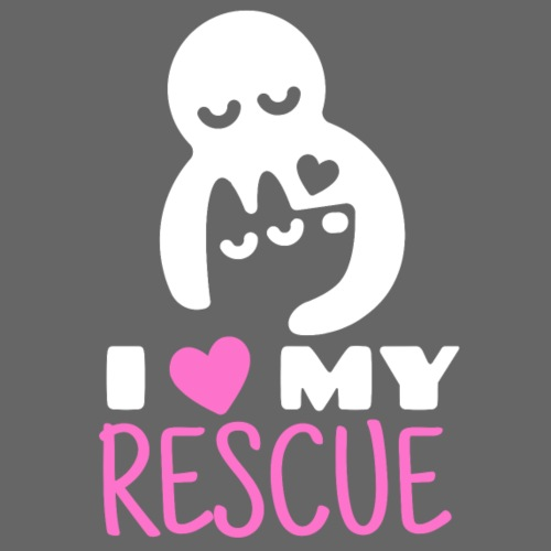 I love my rescue - Miesten premium t-paita