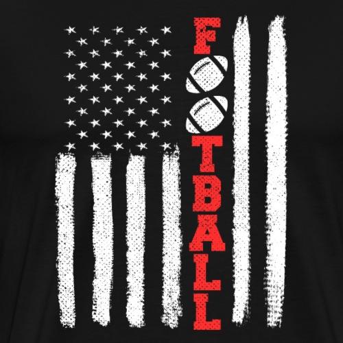 American Football: American Flag T-Shirt Gift - Männer Premium T-Shirt