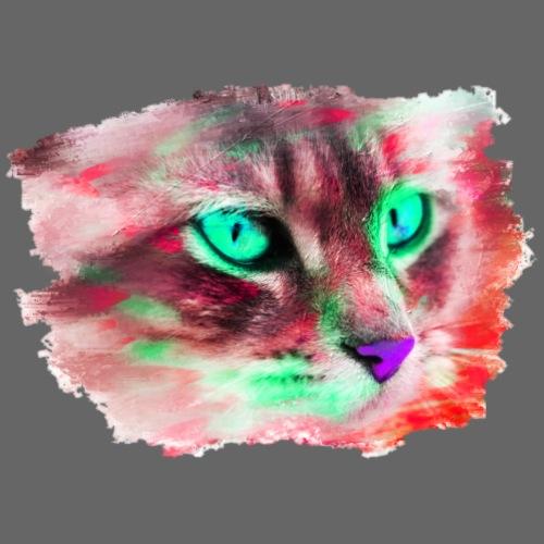 Katze Pop-Art Rot Grün - Männer Premium T-Shirt