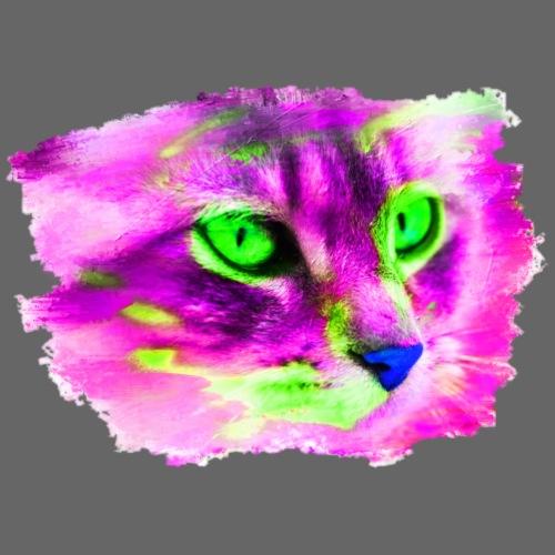 Katze Pop-Art Pink Grün - Männer Premium T-Shirt