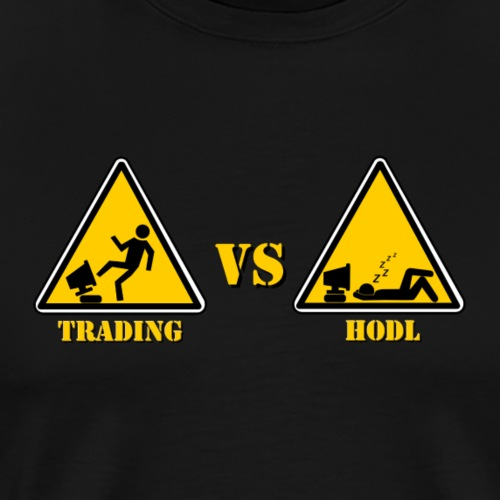 HODL vs TRADING - Men's Premium T-Shirt