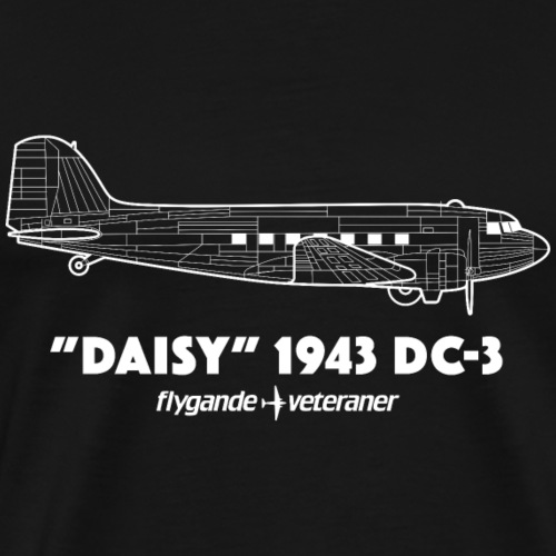 Daisy Blueprint Side 2 - Premium-T-shirt herr